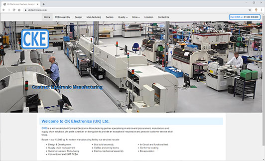 CK Electronics Website