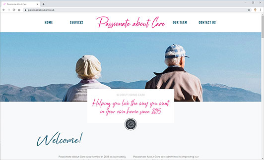 Passionate About Care Website