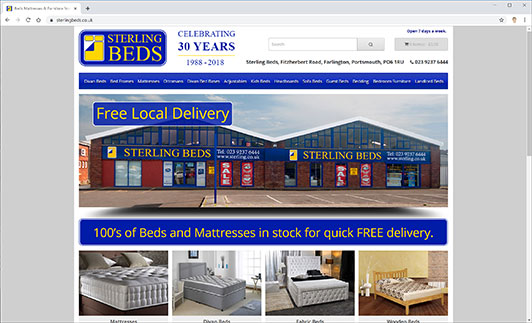 Sterling Beds Website